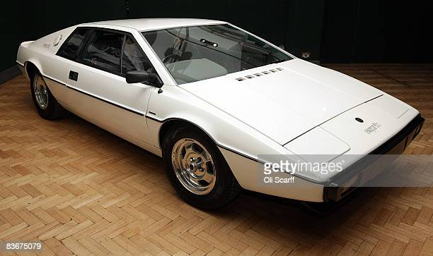 The white 1976 Lotus Esprit car from the 1977 film ' The Spy Who Loved Me ' is displayed on November 13, 2008 in London, England. The classic car is...