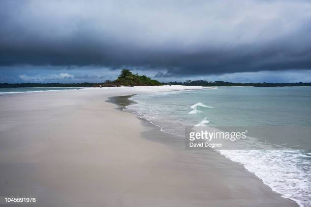 August 12: The white beach of Corisco Island is now a construction site for a future resort hotel on August 12, 2018 in Corisco, Equatorial Guinea. .