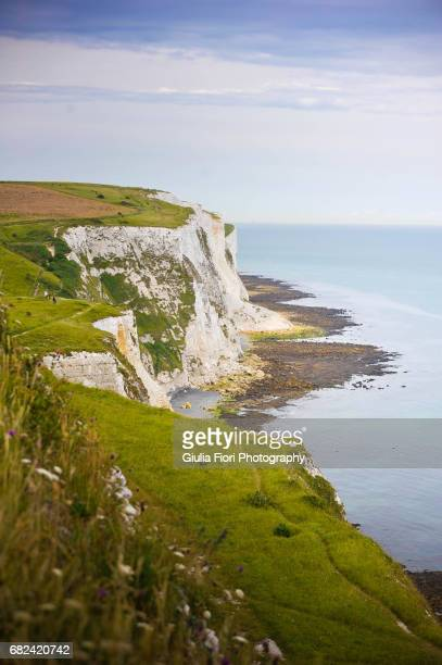 the white cliffs of dover - dover england stock pictures, royalty-free photos & images