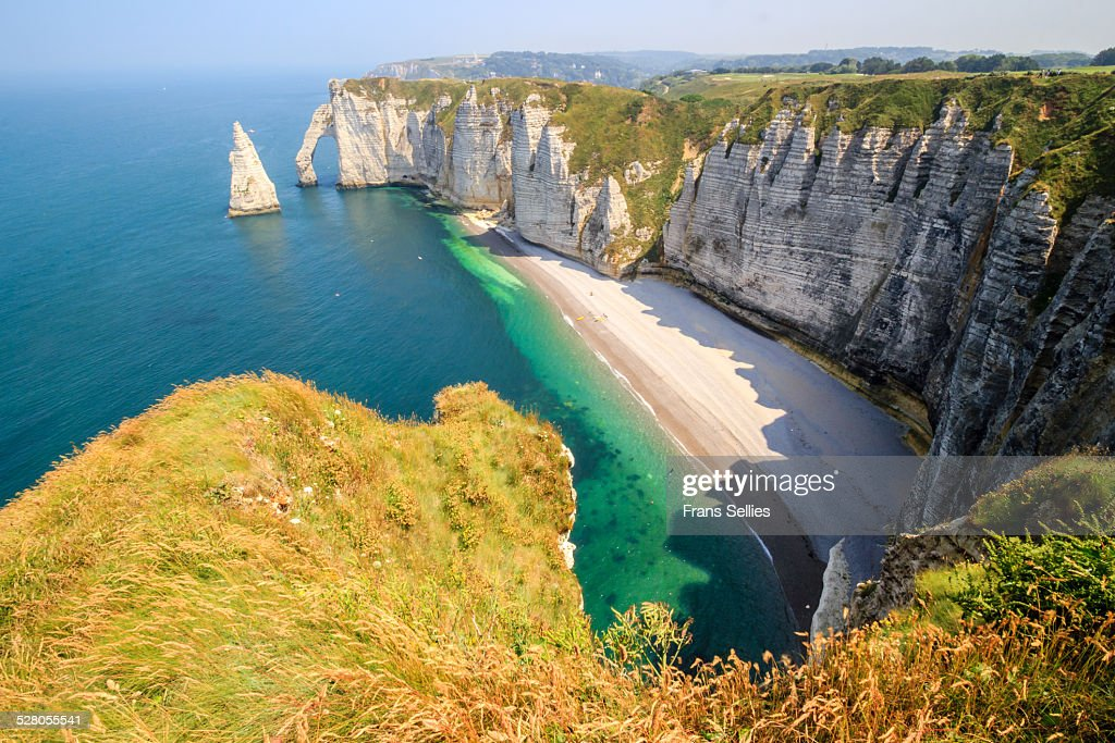 The white cliffs of Etretat, the alabaster coast : Stockfoto