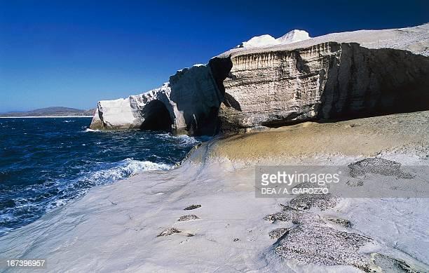 The White Cliffs of Sarakiniko Milos island Cyclades Greece