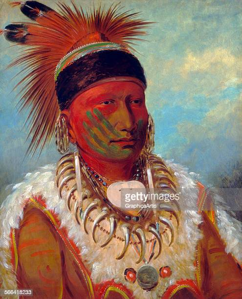 The White Cloud Head Chief of the Iowas by George Catlin oil on canvas 1844 5 From the National Gallery of Art Washington DC