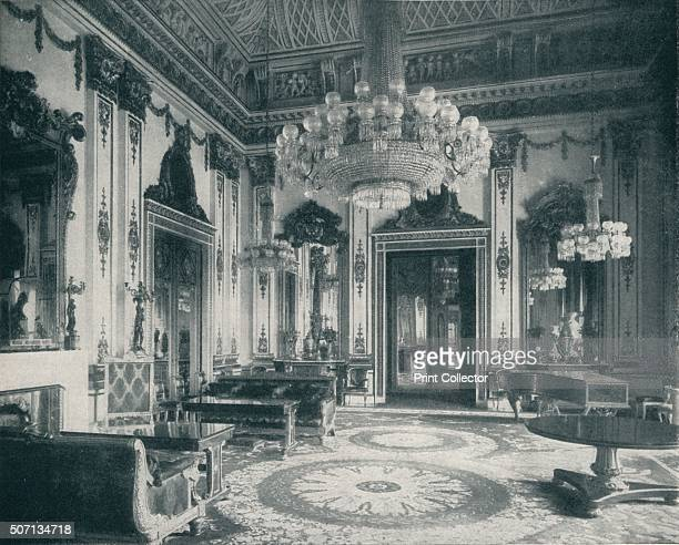 The White DrawingRoom at Buckingham Palace' c1899 John Nash reserved one of his most original ceiling designs for the White Drawing Room...