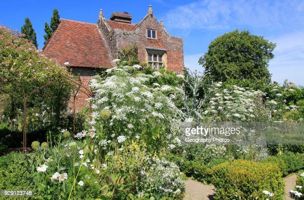 The White Garden, Sissinghurst castle gardens, Kent, England, UK.