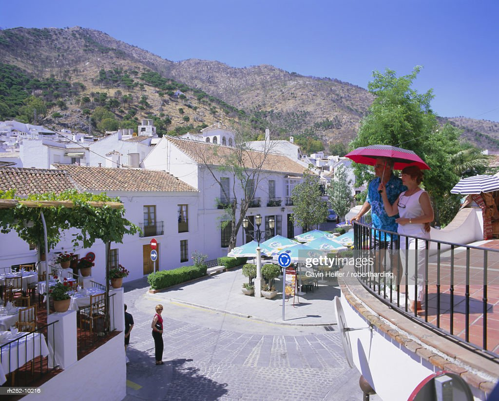 The white hill village of Mijas, Costa del Sol, Andalucia Andalusia, Spain, Europe : Stockfoto