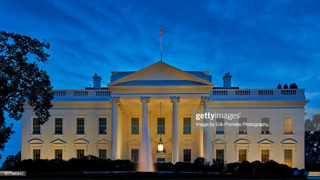 The White House at Dusk : Stockfoto
