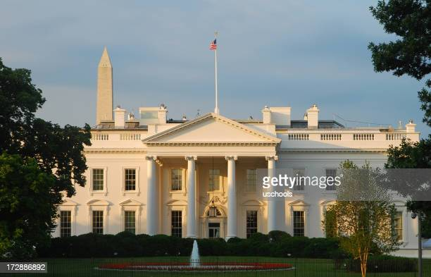 the white house at sunrise (north) - democratic party stock pictures, royalty-free photos & images