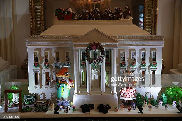The White House Is Decorated For The 2016 Holiday Season Stock Fotos