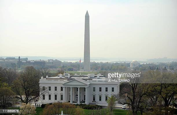 The White House in Washington DC and the Washington Monument are pictured on April 7 2011 The US slipped closer to a government shutdown as US...