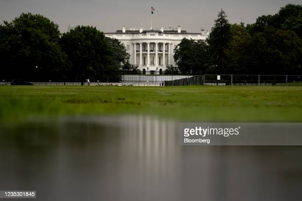 The White House in Washington, D.C., U.S., on Thursday, Sept. 16, 2021. The biggest set of U.S. Tax increases in a generation took a major step...