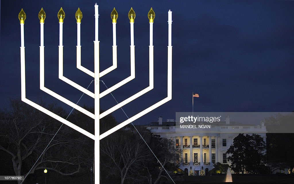 The White House is seen during the annual national Hanukkah menorah lighting ceremony on the White & National Chanukah Menorah Lighting Ceremony Held At White House ... azcodes.com