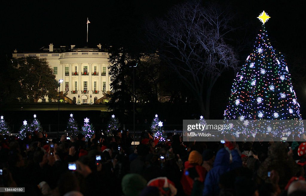 National Christmas Tree Lighting Ceremony Held On DC's Ellipse : News Photo