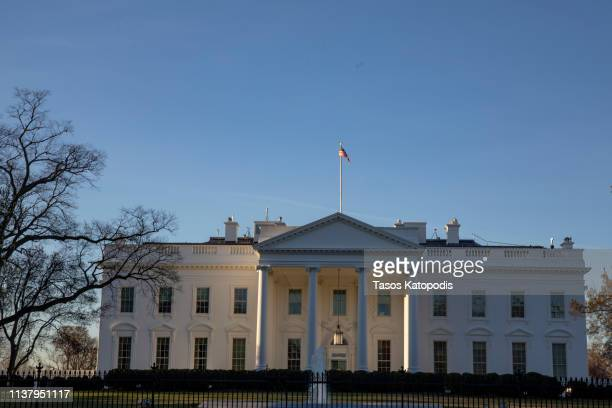 The White House is seen on March 24, 2019 in Washington, DC. Special counsel Robert Mueller has delivered his report on alleged Russian meddling in...