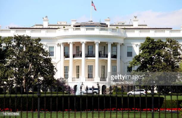 The White House south facade in Washington DC on APRIL 20