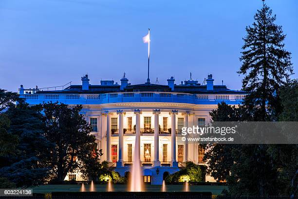 the white house south lawn washington d.c. - la maison blanche photos et images de collection