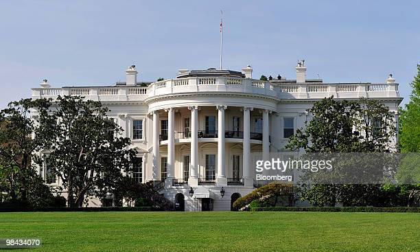 The White House stands in Washington DC US on Monday April 12 2010 Ukraine's agreement to relinquish its entire stockpile of highly enriched uranium...