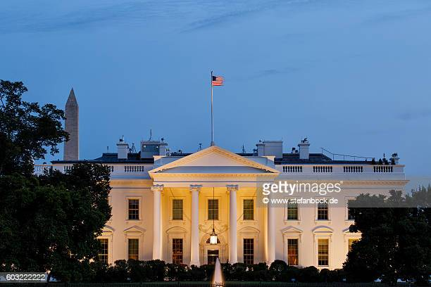 the white house washington d.c. at dawn - presidential election stock pictures, royalty-free photos & images
