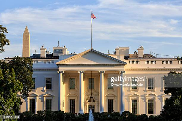the white house washington d.c. - la maison blanche photos et images de collection