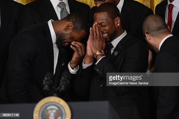 The White House- Washington DC President Barack Obama welcomes LeBron James 2013 NBA Champion Miami Heat to the White House to honor the team on...