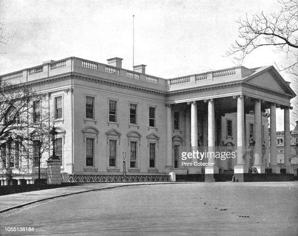 The White House Washington DC USA circa 1900 Building in the neoclassical style official residence and workplace of the President of the United...