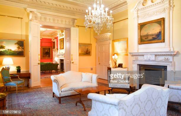 The White Room of 10 Downing Street during December 2013 in London,England.