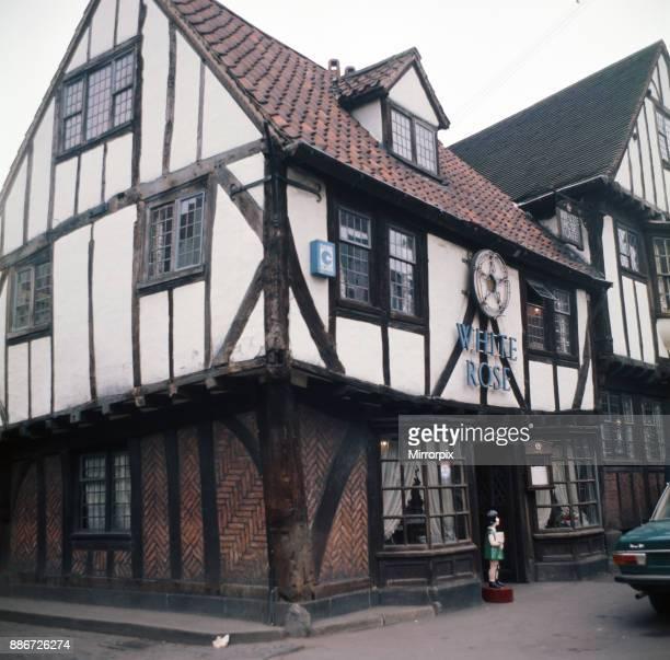 The White Rose Inn in Shambles Market York North Yorkshire April 1974