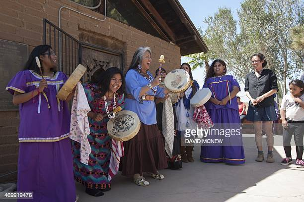 The White Rose Singers consisting of students from Sherman Indian High School an offreservation boarding high school for Native Americans in...
