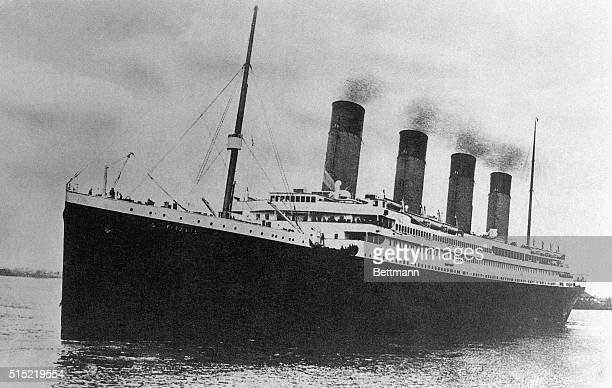 The White Star Line passenger liner RMS Titanic embarking on its illfated maiden voyage