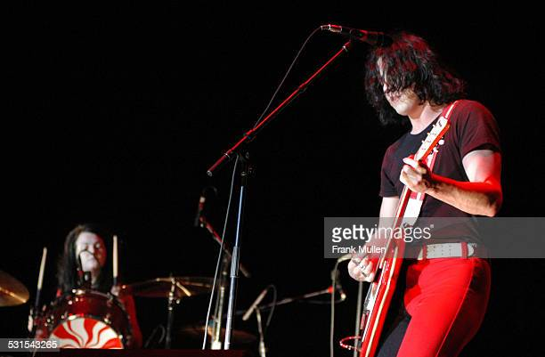 The White Stripes during Voodoo Music Experience 2003 Day Three at City Park in New Orleans Louisiana United States