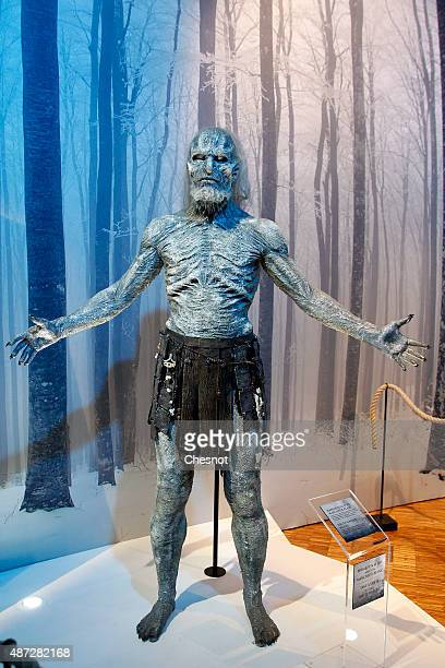 The white walker model of the serie Game of Thrones is displayed during the opening of an exhibition dedicated to HBO's television medieval fantasy...
