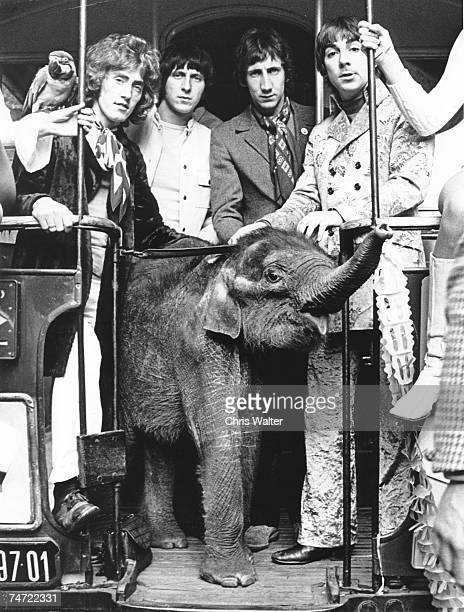 The Who 1968 Magic Bus with John Entwistle during The Who File Photos at the Various in London