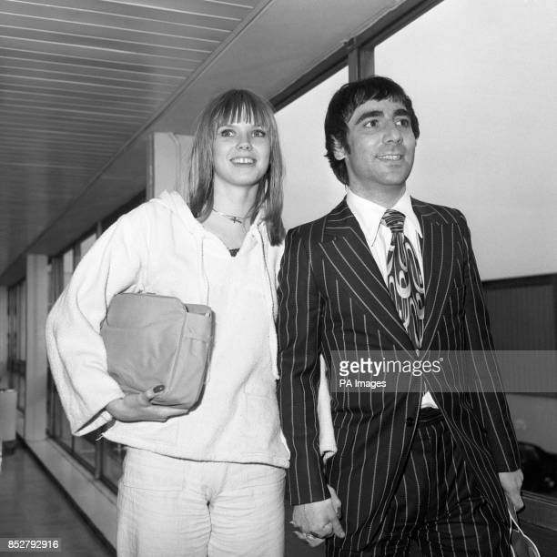 The Who drummer Keith Moon and his girlfriend Annette WalterLax land at Heathrow Airport from Los Angeles where they have been living