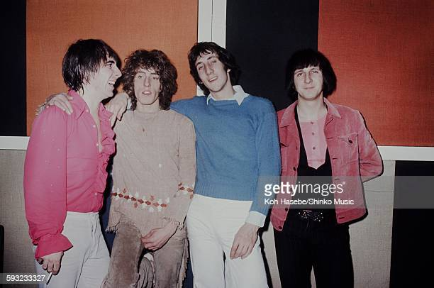 The Who in a dressing room of The Marquee Club London December 17 1968