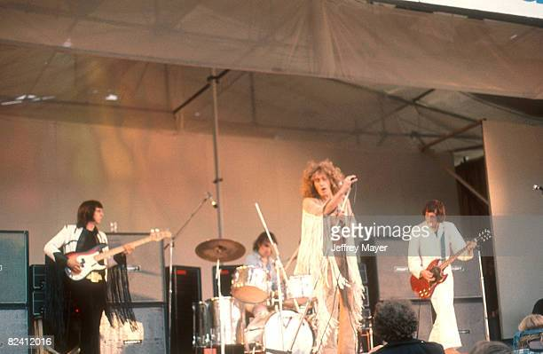 The Who in concert at circa 1969 at the Isle of Wight Music Festival, England