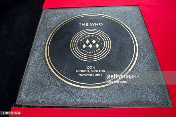 The Who Music Walk Of Fame Founding Stone Unveiling on Camden High Street on November 19 2019 in London England