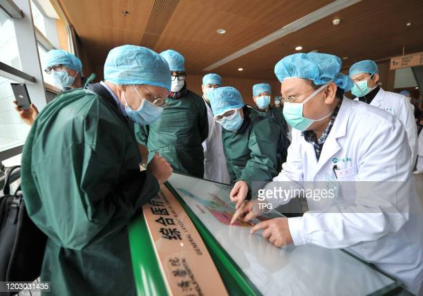 The WHO novel coronavirus pneumonia expert investigation group come to Wuhan to conduct field research on 24th February 2020 in Wuhan HubeiChina