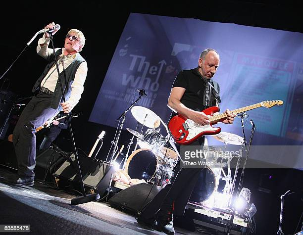 The Who perform at Izod Center The Meadowlands on October 29 2008 in East Rutherford New Jersey
