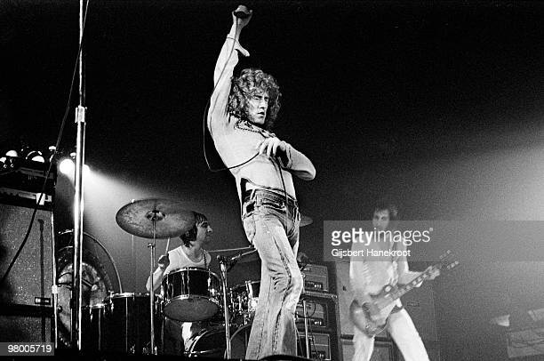 The Who perform live on stage at Rai Amsterdam Netherlands on August 17 1972 LR Keith Moon Roger Daltrey Pete Townshend