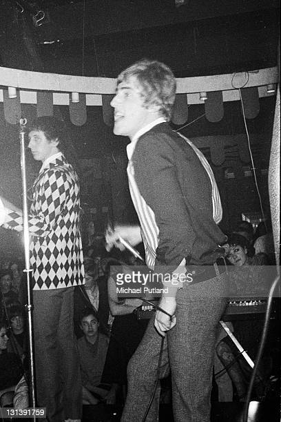 The Who perform on stage at the Marquee Club London John Entwistle Roger Daltrey