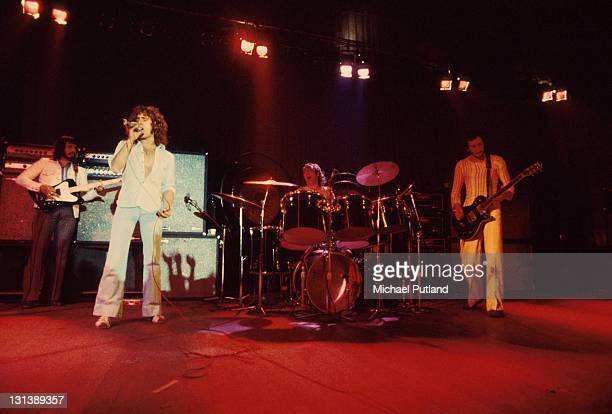 The Who perform on stage during the Quadrophenia tour at the Lyceum London November 1973 LR John Entwistle Roger Daltrey Keith Moon Pete Townshend...