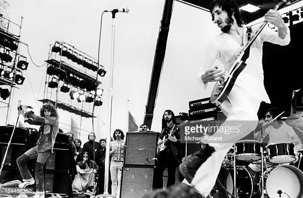 The Who perform on stage Paris 9th September 1972 LR Roger Daltrey John Entwistle Pete Townshend Keith Moon