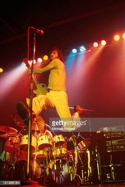 The Who perform on stage Wembley Empire Pool London October 1975 Pete Townshend Keith Moon