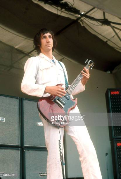 The Who Pete Townshend in concert circa 1969 at the Isle of Wight Music Festival England at the Various in Various