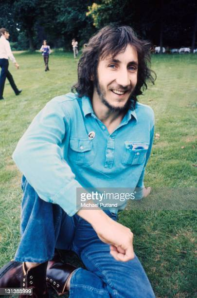 The Who pose for a press call July 1971 Surrey United Kingdom Pete Townshend