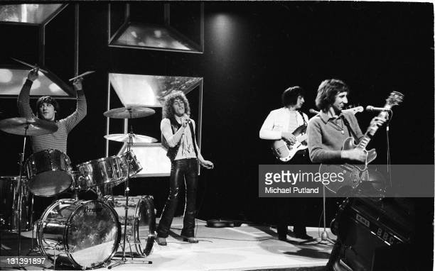 The Who rehearse for an appearance on BBC TV Top of the Pops London 24th April 1969 LR Keith Moon Roger Daltrey John Entwistle Pete Townshend