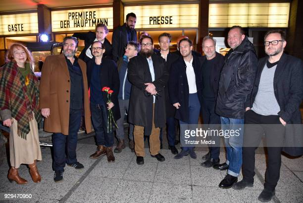 The whole cast attend the premiere of 'Der Hauptmann' at Kino International on March 8 2018 in Berlin Germany