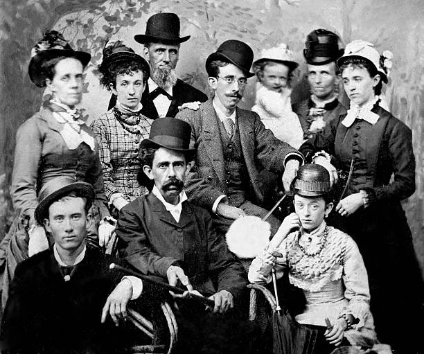 The Whole Family Poses For A Tintype Portrait Ca 1885