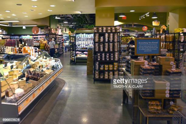 The Whole Foods Market in Midtown New York is seen on June 16 2017 Amazon is once again shaking up the retail sector with the announcement Friday it...
