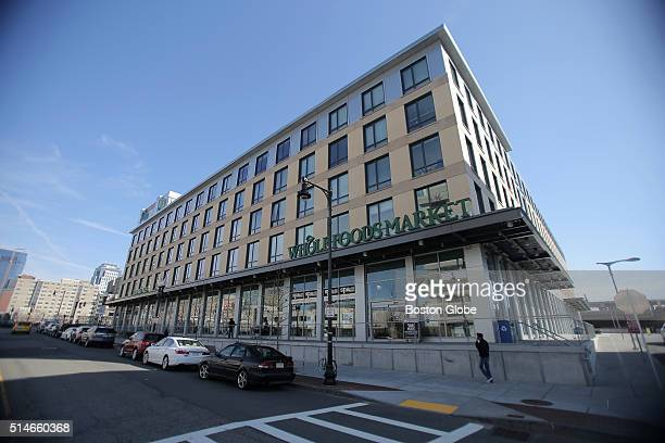 The Whole Foods market inside the Ink Block in Boston on Feb 29 2016 The former Boston Herald building is now a new apartment and retail development