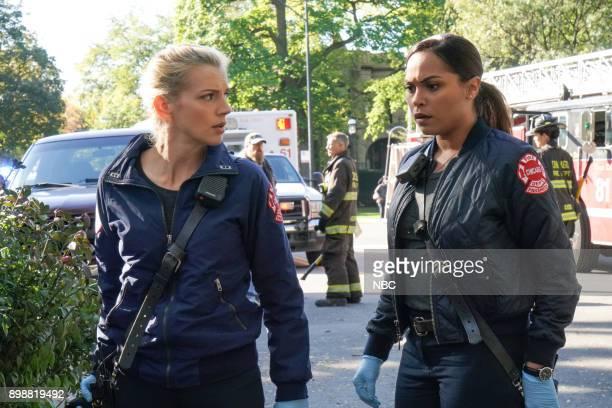 FIRE 'The Whole Point of Being Roommates' Episode 608 Pictured Kara Killmer as Sylvie Brett Monica Raymund as Gabriela Dawson